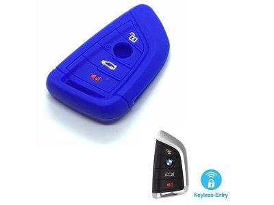 Silikonska zaščita za avto ključ SELM130 - BMW, modra
