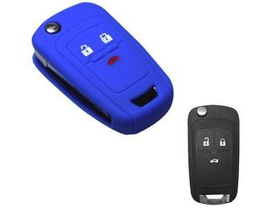 Silikonska zaščita za avto ključ SELM133 - Chevrolet, modra
