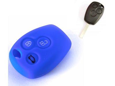 Silikonska zaščita za avto ključ SELM142 - Dacia, modra