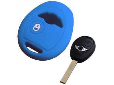 Silikonska zaščita za avto ključ SELM151 - Mini, modra