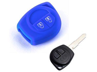 Silikonska zaščita za avto ključ SELM159 - Nissan, modra