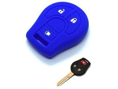Silikonska zaščita za avto ključ SELM160 - Nissan, modra