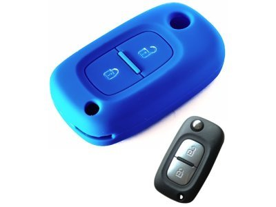 Silikonska zaščita za avto ključ SELM169 - Renault, modra