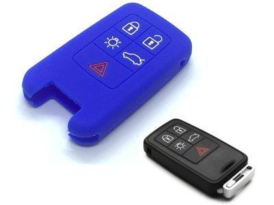 Silikonska zaščita za avto ključ SELM175 - Volvo, modra