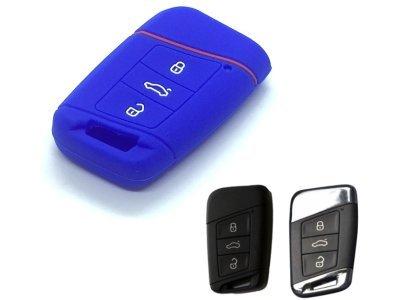 Silikonska zaščita za avto ključ SELM180 - Volkswagen, modra