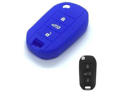 Silikonska zaščita za avto ključ SELM241 - Peugeot, modra