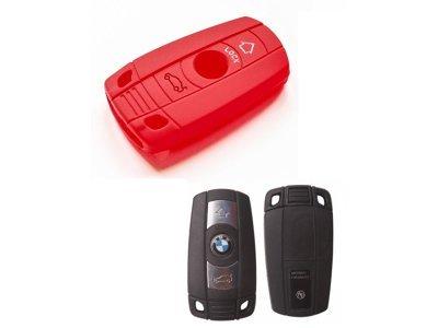 Silikonska zaščita za avto ključ SELR010 - BMW, rdeča