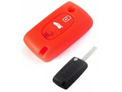 Silikonska zaščita za avto ključ SELR012 - Lancia, rdeča