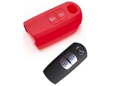 Silikonska zaščita za avto ključ SELR021 - Mazda, rdeča