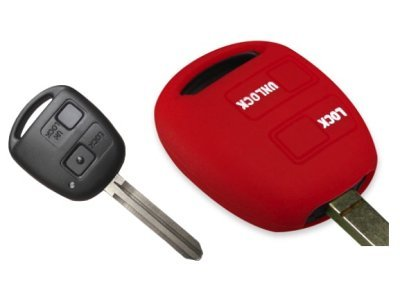 Silikonska zaščita za avto ključ SELR022 - Lexus, rdeča
