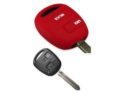 Silikonska zaščita za avto ključ SELR022 - Toyota, rdeča