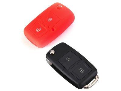Silikonska zaščita za avto ključ SELR032 - Škoda, rdeča