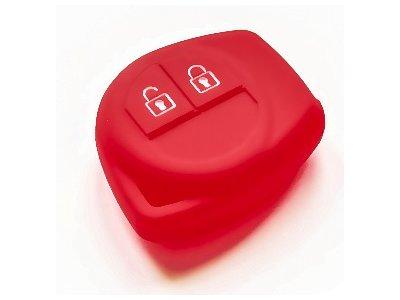 Silikonska zaščita za avto ključ SELR033 - Suzuki, rdeča