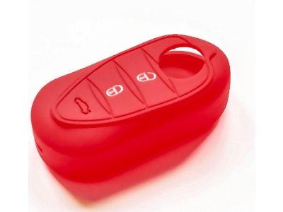 Silikonska zaščita za avto ključ SELR043 - Alfa Romeo, rdeča