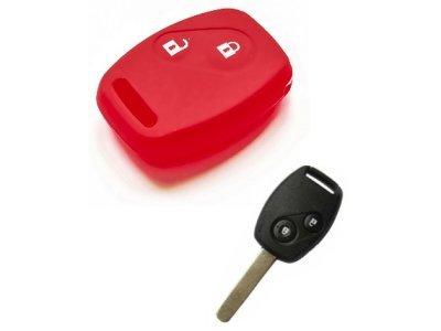 Silikonska zaščita za avto ključ SELR045 - Honda,  rdeča