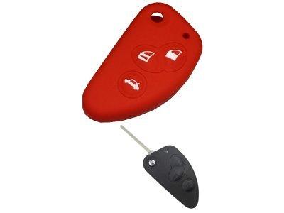 Silikonska zaščita za avto ključ SELR056 - Alfa Romeo, rdeča