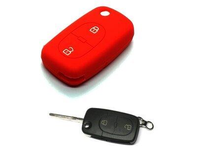 Silikonska zaščita za avto ključ SELR126 - Audi, rdeča
