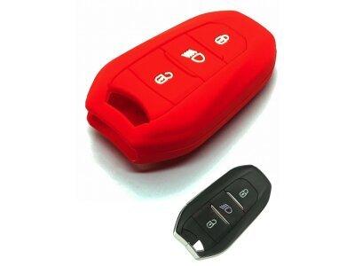 Silikonska zaščita za avto ključ SELR138 - Peugeot, rdeča