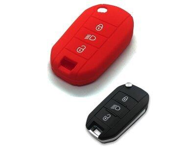 Silikonska zaščita za avto ključ SELR139 - Peugeot, rdeča