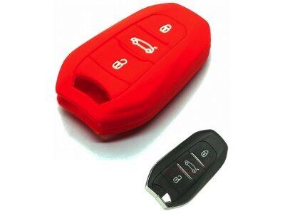 Silikonska zaščita za avto ključ SELR140 - Peugeot, rdeča
