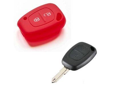 Silikonska zaščita za avto ključ SELR158 - Nissan, rdeča