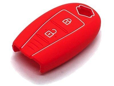 Silikonska zaščita za avto ključ SELR172 - Suzuki, rdeča