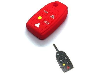 Silikonska zaščita za avto ključ SELR174 - Volvo, rdeča