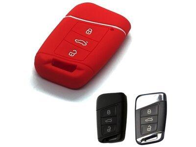 Silikonska zaščita za avto ključ SELR180 - Škoda, rdeča