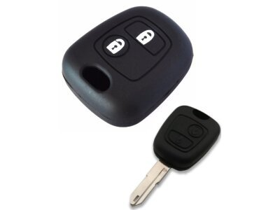 Silikonska zaštita ključeva SEL013 - Citroen, crna