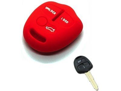 Silikonska zaštita ključeva SEL156 - Mitsubishi, crvena