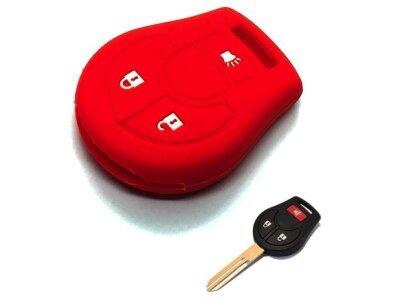 Silikonska zaštita ključeva SEL160 - Nissan, crvena