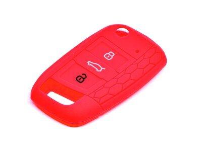 Silikonska zaštita ključeva SEL172-2 - Volkswagen, Škoda, Seat, crvena