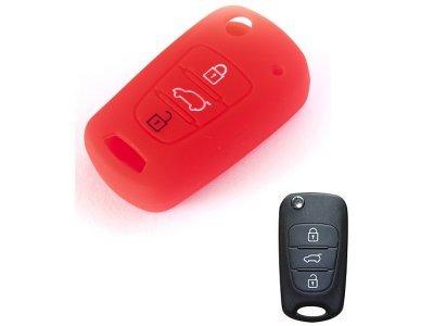 Silikonska zaštita za auto ključ SEL001 - Kia, crvena