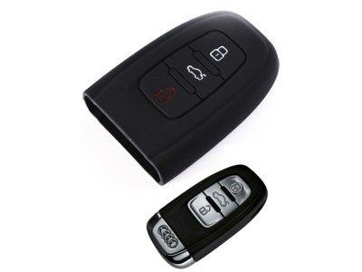 Silikonska zaštita za auto ključ SEL007 - Audi, crna