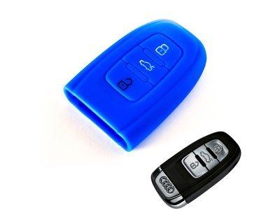 Silikonska zaštita za auto ključ SEL007 - Audi, plava