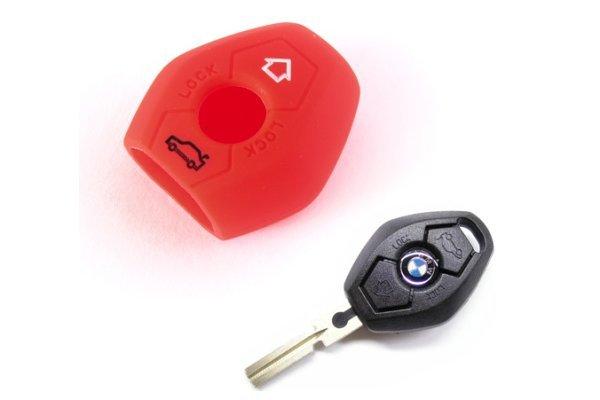Silikonska zaštita za auto ključ SEL008 - BMW, crvena