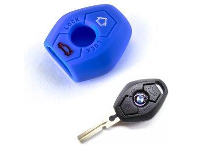 Silikonska zaštita za auto ključ SEL008 - BMW, plava