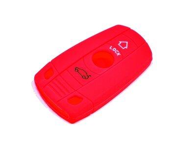 Silikonska zaštita za auto ključ SEL010-2 - BMW, crvena