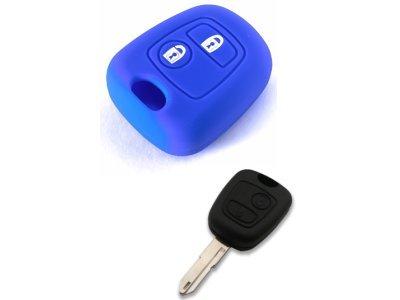 Silikonska zaštita za auto ključ SEL013 - Citroen, plava