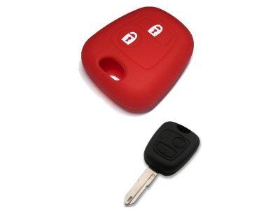 Silikonska zaštita za auto ključ SEL013 - Peugeot, crvena