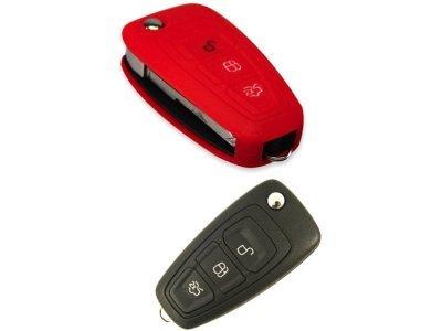 Silikonska zaštita za auto ključ SEL017 - Ford, crvena