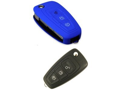 Silikonska zaštita za auto ključ SEL017 - Ford, plava