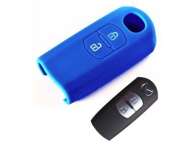 Silikonska zaštita za auto ključ SEL021 - Mazda, plava