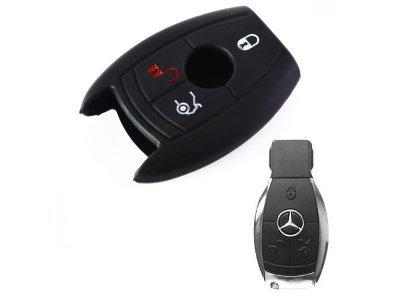 Silikonska zaštita za auto ključ SEL024 - Mercedes-Benz, crna