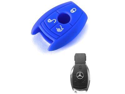 Silikonska zaštita za auto ključ SEL024 - Mercedes-Benz, plava