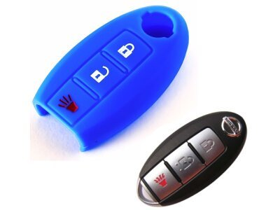 Silikonska zaštita za auto ključ SEL026 - Nissan, plava