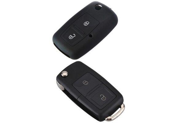 Silikonska zaštita za auto ključ SEL032 - Volkswagen, crna