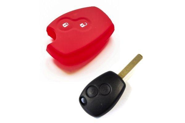 Silikonska zaštita za auto ključ SEL034 - Renault, crvena
