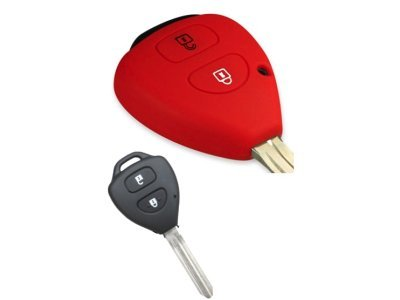 Silikonska zaštita za auto ključ SEL036 - Toyota, crvena