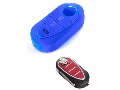 Silikonska zaštita za auto ključ SEL043 - Alfa Romeo, plava